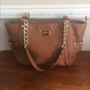 Michael Kors Tan Leather Bag